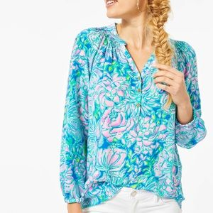 NWT Lilly Pulitzer Elsa Top in In Full Bloom